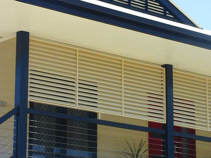South coast aluminium shutters for Balcony louvres