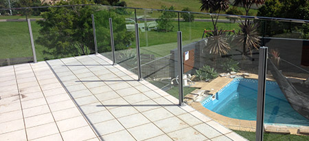 View our range of frameless glass pool fencing